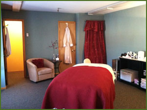 massage room at Heavenly Body in WInter Park, CO